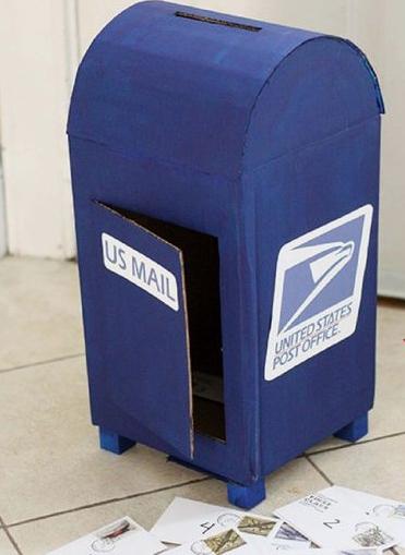 zelfgemaakte brievenbus