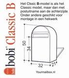 Brievenbus Bobi Classic B donkerbruin RAL 8017_