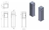 Design brievenbus cortenstaal Lixar_