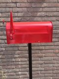 Amerikaanse brievenbus mailbox staal bruin_