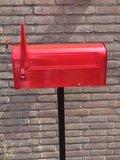 Amerikaanse brievenbus mailbox staal grijs_