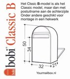 Brievenbus Bobi Classic B donkerblauw RAL 5003_