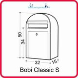 Bobi brievenbus Classic S structuurzwart RAL 9005_