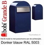 Brievenbus Bobi Grande B donkerblauw RAL 5003_