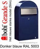 Brievenbus Bobi Grande S donkerblauw RAL 5003_