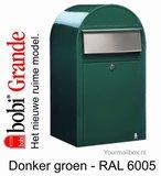 Brievenbus Bobi Grande donkergroen RAL 6005_