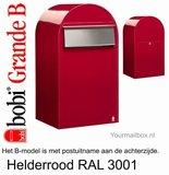 Brievenbus Bobi Grande B helderrood RAL 3001_