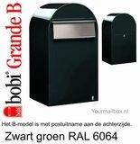 Brievenbus Bobi Grande B zwartgroen RAL 6064_
