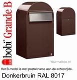 Brievenbus Bobi Grande B donkerbruin RAL 8017_