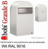 Brievenbus Bobi Grande B wit RAL 9016_