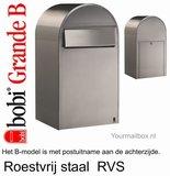 Brievenbus Bobi Grande B RVS_