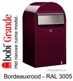 bobi brievenbus grande bordeaux rood