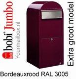Brievenbus Bobi Jumbo bordeauxrood RAL 3005_