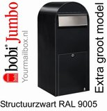 Brievenbus Bobi Jumbo structuurzwart RAL 9005_