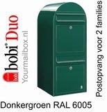 Brievenbus Bobi Duo donkergroen RAL 6005_