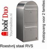 Brievenbus Bobi Duo RVS_