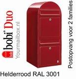 Brievenbus Bobi Duo helderrood RAL 3001_