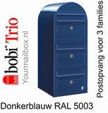 Brievenbus Bobi Trio donkerblauw RAL 5003_