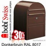 Brievenbus Bobi Swiss donkerbruin  RAL 8017_