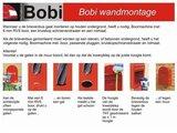 Brievenbus Bobi Swiss Donkergrijs  RAL 7016 met RVS klep_