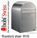 Brievenbus Bobi Swiss RVS_