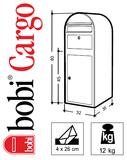 Pakketbrievenbus Bobi Cargo structuurzwart RAL 9005_
