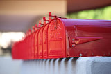 Amerikaanse brievenbus mailbox staal Rood_