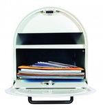 US Mailbox mét slot / Afsluitbare brievenbus wit_