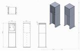 Design brievenbus cortenstaal Luxus (leverbaar rond week 39)_