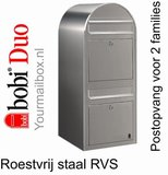 Brievenbus Bobi Duo RVS_