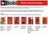 Brievenbus Bobi Duo zwartblauw RAL 5004_