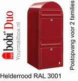 Brievenbus Bobi Duo helderrood RAL 3001_