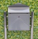 Envelop brievenbus zilver met statief_