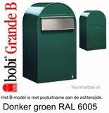 Brievenbus Bobi Grande B donkergroen RAL 6005_