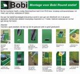 Brievenbusset Bobi Classic structuur zwart RAL 9005 + Statief RVS_