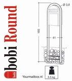 Brievenbusset Bobi Classic donkerbruin RAL 8017 + Statief RVS_
