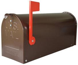Amerikaanse brievenbus mailbox staal bruin