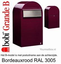 Brievenbus Bobi Grande B bordeauxrood RAL 3005