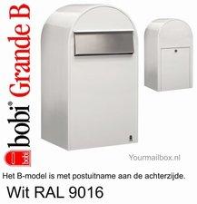 Brievenbus Bobi Grande B wit RAL 9016