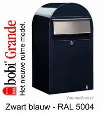 Brievenbus Bobi Grande zwartblauw RAL 5004