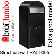 Brievenbus Bobi Jumbo structuurzwart RAL 9005