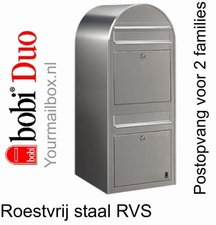 Brievenbus Bobi Duo RVS