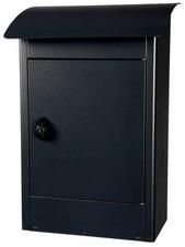 Grote brievenbus Zandvoort zwart mat