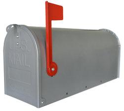 Amerikaanse brievenbus mailbox staal zilver