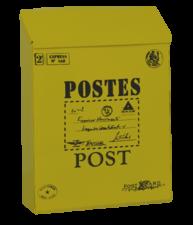 Brievenbus Post kaart geel (B-keus)