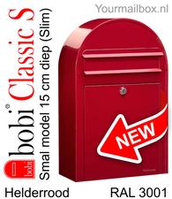 Bobi brievenbus Classic S helderrood RAL 3001