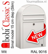 Bobi brievenbus Classic S wit RAL 9016