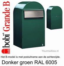 Brievenbus Bobi Grande B donkergroen RAL 6005