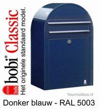 Brievenbus Bobi Classic donkerblauw RAL 5003