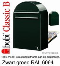 Brievenbus Bobi Classic B zwartgroen RAL 6064